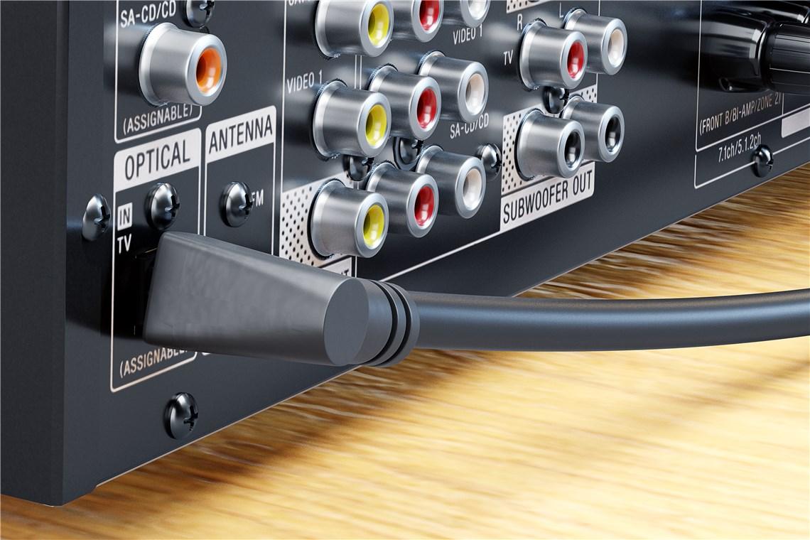 DTS ELUTENG Optisches Audiokabel abgewinkelt(360/°drehbar) 4 Packs,Toslink 90 Grad/°,Winkelstecker f/ür Toslink Kabel Stecker auf Buchse vergoldet,geeignet f/ür Dolby 5.1 usw.Audiosignale,schwarz