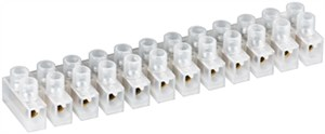 Terminal strip connectors 10 pcs, transparent