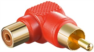 RCA adapter 90°; red