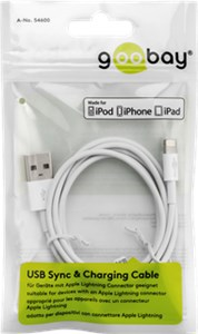 Lightning USB charging and sync cable