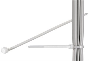 Cable tie; weather resistant nylon, natural