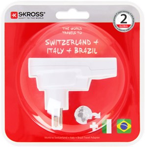 Country Adapter World to Switzerland+Italy+Brasil