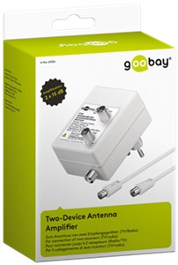 Amplificatore antenna per due dispositivi (DVB-T / DVB-T2 / DVB-C)