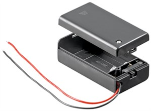 1x 9V Block battery holder