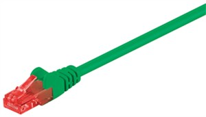 CAT 6 patch cable, U/UTP, green