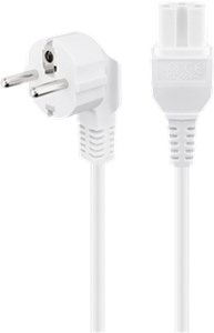High-power connection cord; 2 m, white