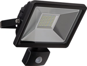 LED outdoor floodlight with a motion sensor, 30 W