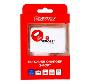 SKROSS P Charger EU USB 2 Port (3.4 A)