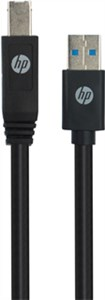 USB A to USB B Cable, black