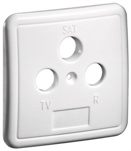 3 holes cover plate for antenna wall sockets