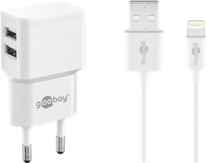 Kit de charge Apple Lightning double 2,4 A