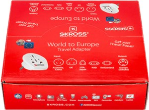 Verkaufsbox Country Adapter World to Europe