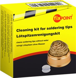 Cleaning kit for soldering tips