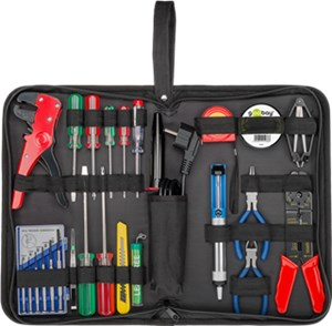 Tool bag with soldering set