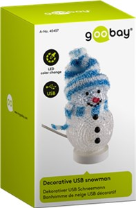 Decorative USB snowman blue
