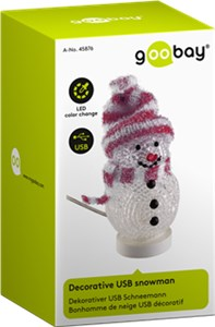 Decorative USB snowman red