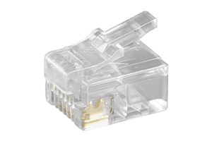 RJ12 modular plug for flat cables; 6 pol.