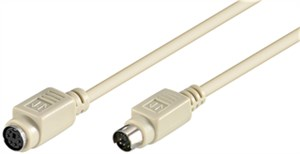 PS/2 keyboard and mouse extension cable