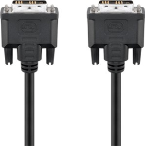 DVI-D Full HD cable Single Link, nickel plated