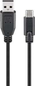 USB 2.0 cable (USB-C™ to USB A), black