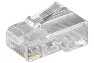 RJ45 modular plug for flat cables; 8 pol.