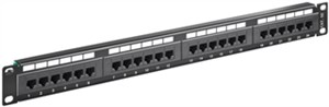 CAT 5e 19-Zoll (48,3 cm) Patch Panel, 24 Port