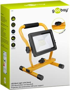 LED work light with stand, 30 W