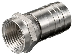 Crimp F plug connector 8.0 mm