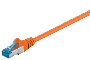 CAT 6A cavo patch - rete S/FTP (PiMF), arancione