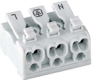 Terminal strip connectors, transparent