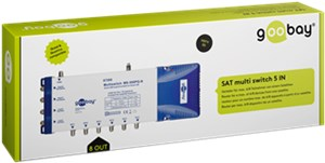 SAT multiswitch 5 ingressi / 8 uscite