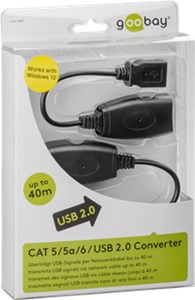 USB 2.0 Hi-Speed extension cable, black