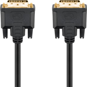 DVI-I Full HD cable dual link, gold-plated