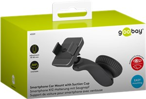 In-car suction cup mount for smartphones