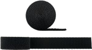 Cable management set with hook-and-loop fastener roll (1m, adjustable length)