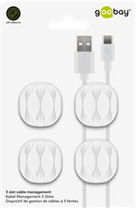 3-slot cable management, white