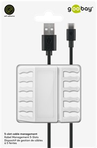 5-slot cable management, white