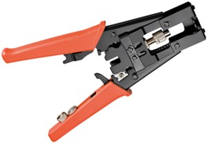 Crimping tool for F, BNC and RCA compression connectors