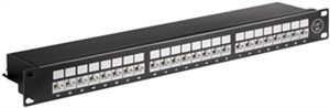 CAT 6a 19-Zoll (48,3 cm) Patch Panel, 24 Port