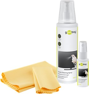 Screen Cleaning Kit 4 in 1: 250 ml spray + 30 ml spray + 2 microfibre clothes