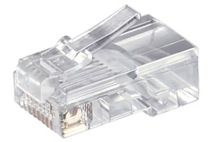 RJ45 modular plug for round cable; 8 pol.