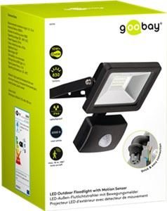 LED outdoor floodlight with a motion sensor, 10 W