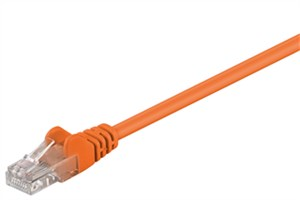 CAT 5e patch cable, U/UTP, orange