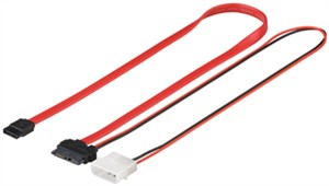 Cavo di HDD S-ATA SlimLine Kabel 1.5 GBits / 3 Gbits 2in1