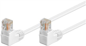 CAT 5e patchcable 2x 90°angled, U/UTP, white