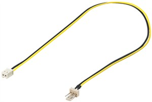 PC power cable/adapter; 3-pin to 2-pin