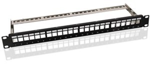 19 inch (48.3 cm) Keystone blank Patch Panel empty case (1 HE)
