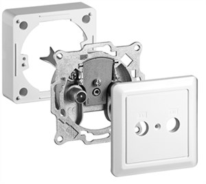 2-way antenna end wall socket; Kit