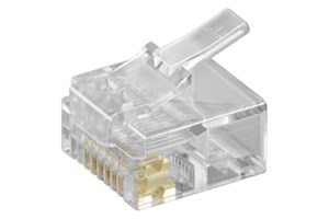 RJ45 modular plug for flat cables (short version); 8 pol.