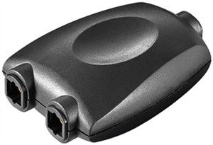 Splitter audio digitale Toslink 1 a 2; nero